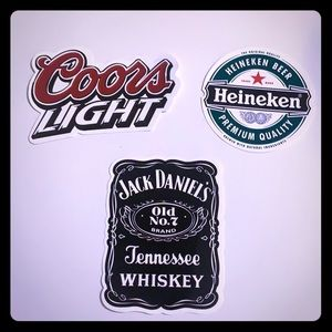 Drink sticker three pack. 🍺🍺🥃